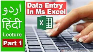 How to Do Data Entry in Microsoft Excel | Urdu/Hindi Tutorial | Part 1