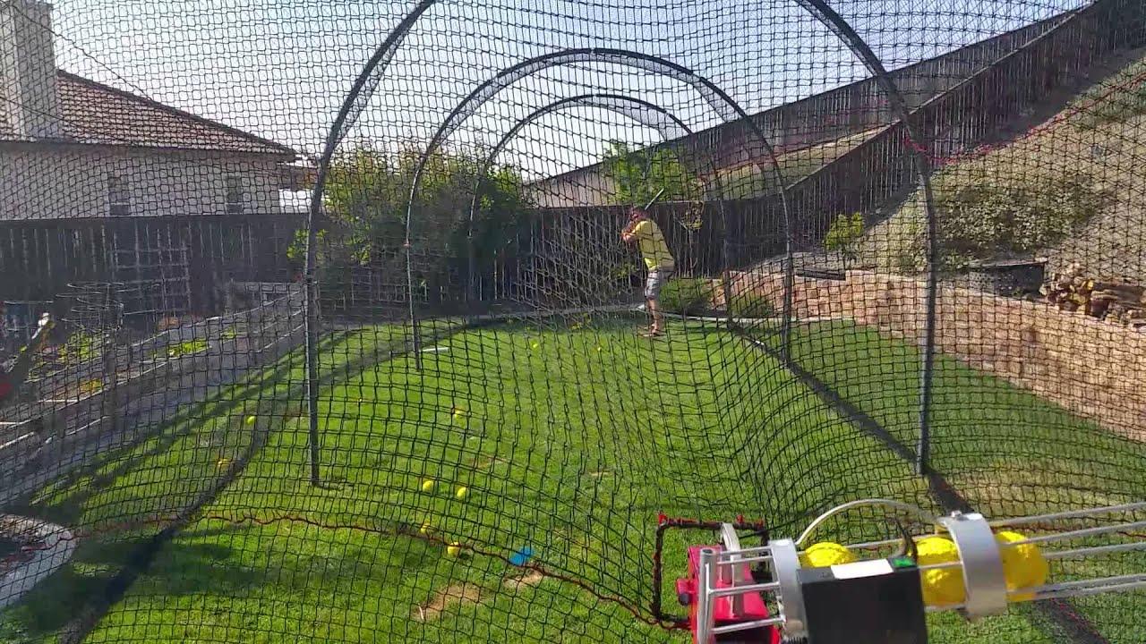 Backyard Batting cage - YouTube