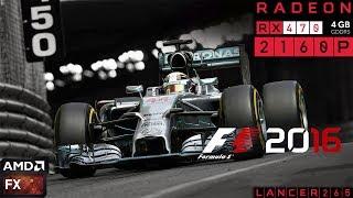 F1 2016 Gameplay RX 470 4K FX 6300