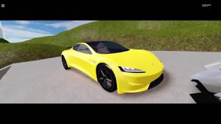 TESLA RAODSTER 2.0 VS LAMBORGHINI EGOISTA! :D (simulateur de véhicule roblox)