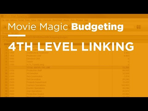 Movie Magic Budgeting - 4th Level Linking
