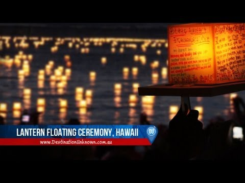 hawaii lantern floating ceremony memorial day youtube