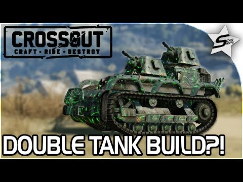 """EPIC DOUBLE TANK TURRET TANK! - DRAG RACE BUILD - """"The BOMBER"""" - Crossout Open Beta NEW Gameplay"""