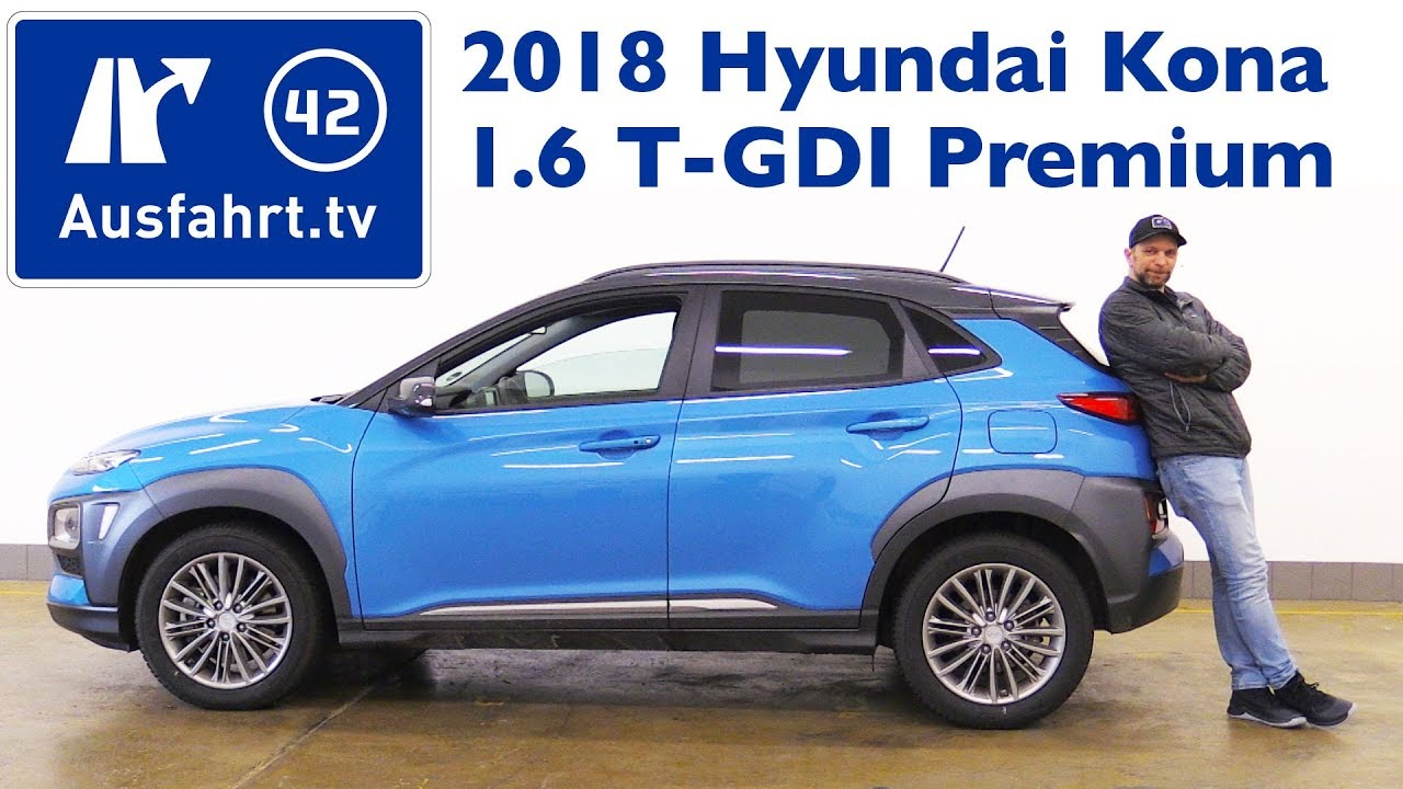 2018 hyundai kona 1 6 t gdi premium 4wd kaufberatung test review youtube. Black Bedroom Furniture Sets. Home Design Ideas