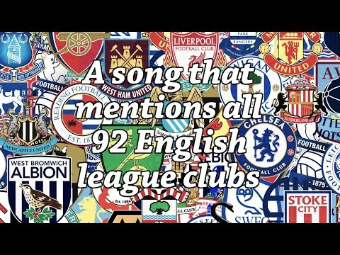 A song that mentions all 92 English league clubs