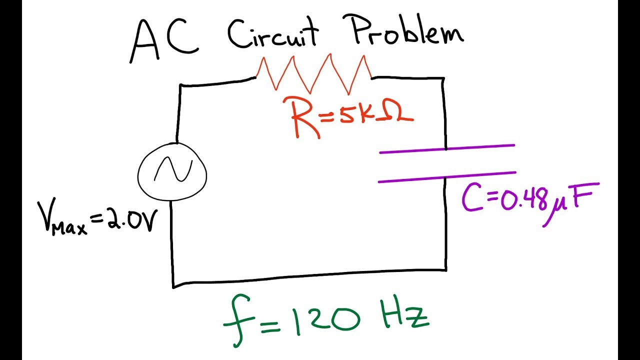 ac circuit resistor and a capacitor in series [ 1280 x 720 Pixel ]