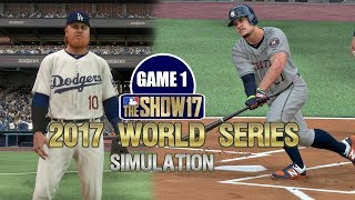 MLB The Show 17 | 2017 World Series Game 1 Dodgers vs Astros Simulation
