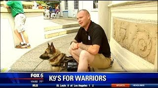 """Service Dog Helps """"save"""" Life Of War Veteran Suffering From Ptsd"""