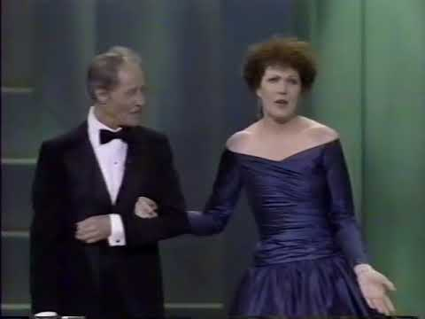 LYNN REDGRAVE & DON AMECHE SINGDANCE  TRIBUTE TO HONOREE CLAUDETTE COLBERT AT KCH, 1989