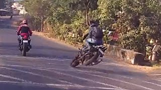 Pulsar 220f Crash | Squids | Lavasa | Raw Footage