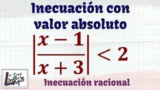 Inecuación fraccionaria con valor absoluto | La Prof Lina M3