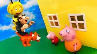 ☺ Swinka Peppa i Pszczolka Maja po Polsku ☺ Maja ratuje Peppe przed Gargamelem ☺ Bajka dla dzieci