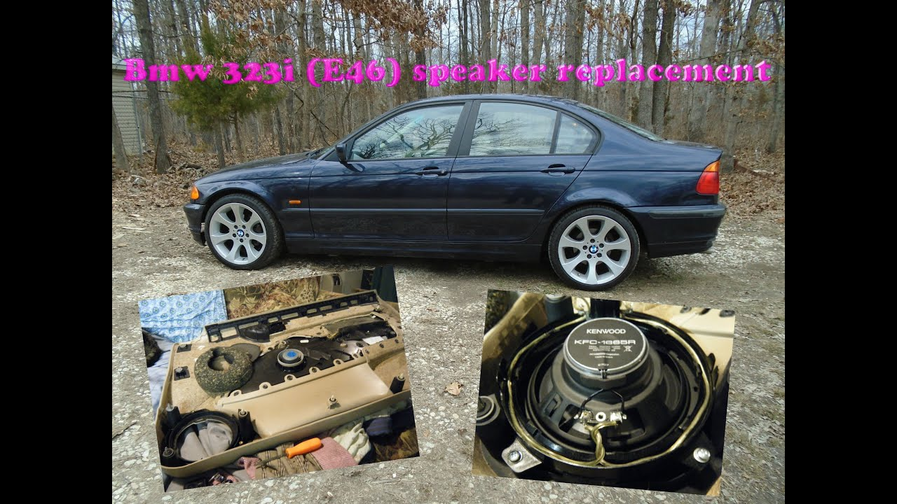 small resolution of bmw e46 aftermarket front door speaker replacement for 34 dollars