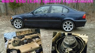 BMW E46 Aftermarket Front door speaker replacement for $ 34 dollars !