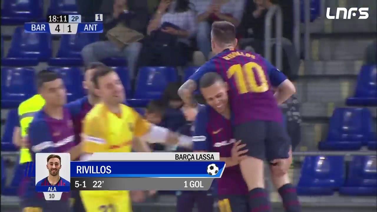 Gol Rivillos (5-1) Barça Lassa - Be Soccer CD UMA Antequera. J27, 1Div. LNFS