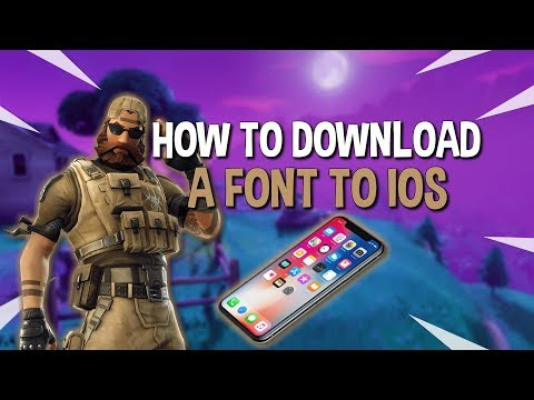 How To Download Fortnite Font IOS