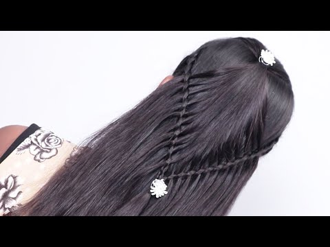 Starburst Arrow Braid hairstyle 2019 | Party hairstyles for long hair  | Beautiful hairstyle 2019 thumbnail