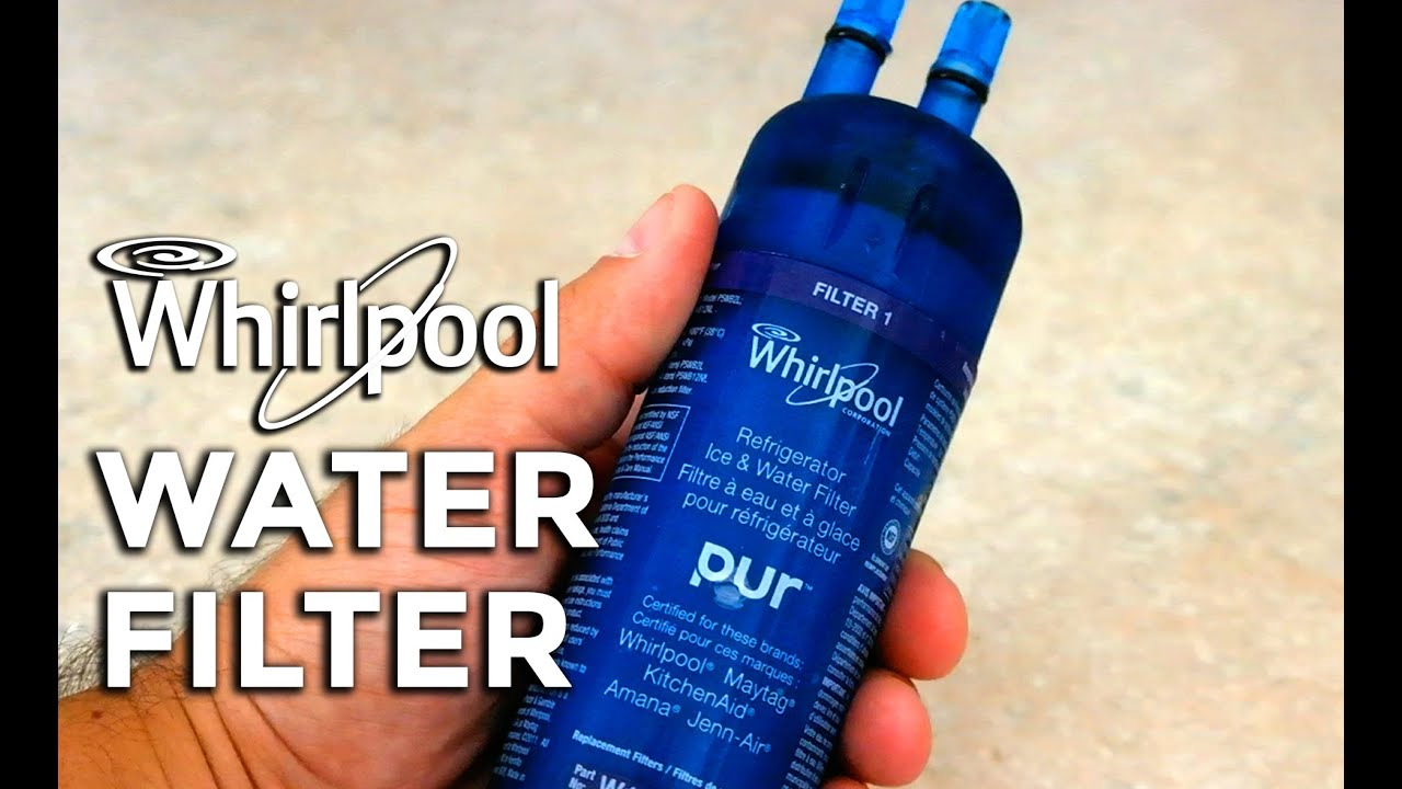 How To Change A Whirlpool Refrigerator Water Filter Youtube