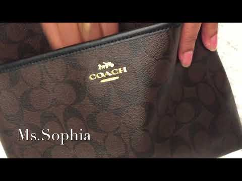 Online Coach Bag Review With Ms.Sophia (File Crossbody In Signature Canvas)