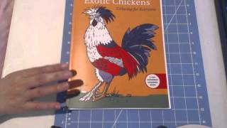 Exotic Chickens Coloring Book