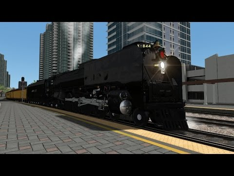 TS2015 HD EXCLUSIVE: Union Pacific FEF-3 844 Excursion Service On Pacific Surfliner LOSSAN Corridor