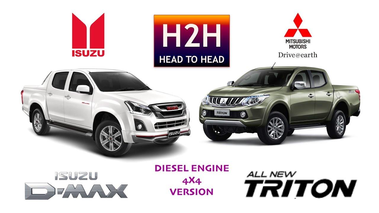 H2h 85 Isuzu D Max Vs Mitsubishi All New Triton Youtube