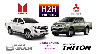H2H #85 Isuzu D-MAX vs Mitsubishi All New TRITON
