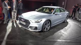 [4k] Audi A7 Sportback incl. REARSEAT in detail at WORLD PREMIERE Ingolstadt, Germany