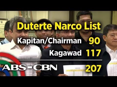 TV Patrol: 'Narco-list' ng barangay officials, isinapubliko ng PDEA