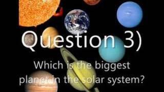 The Solar System reward quiz