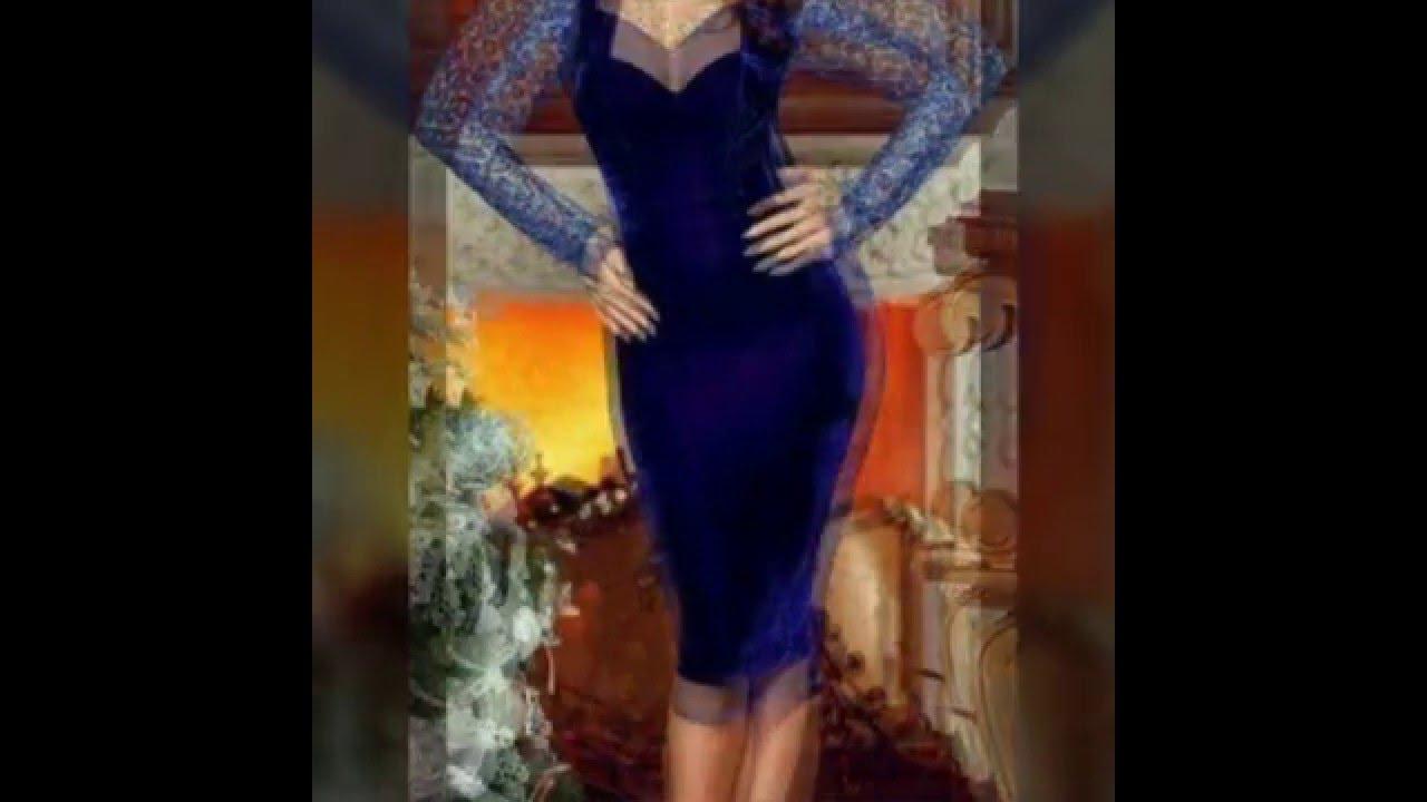 7e1a1393f  فساتين سهرة قطيفة robes soirées katifa modern - YouTube