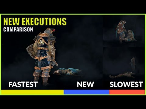 For Honor NEW Executions Comparison Fastest vs Slowest Animation
