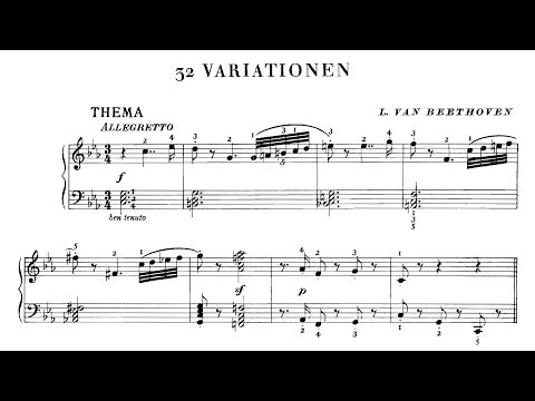 Beethoven: 32 Variations In C Minor, WoO 80 (Perahia, Mustonen, Kissin)