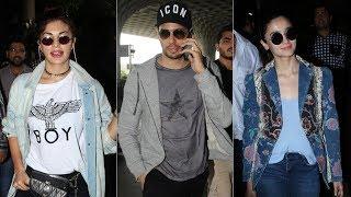 Bollywood Celebs Spotted At Mumbai Airport | Sidharth Malhotra, Alia Bhatt, Jacqueline Fernandez