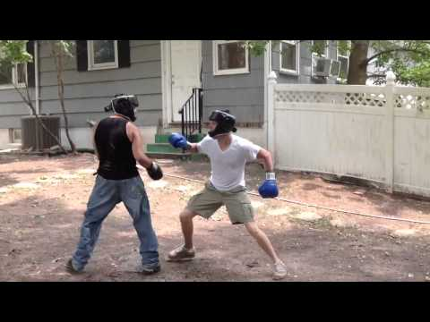 Backyard Boxing Dan vs McCabe v2 round 2