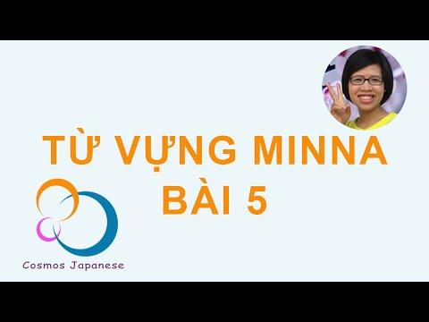 Học từ vựng tiếng Nhật Minna - Bai 5