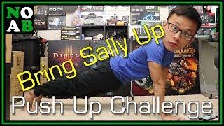 "Nerd Tries ""Bring Sally Up"" Push Up Challenge"