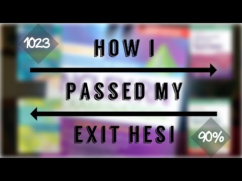 HOW I PASSED THE EXIT HESI WITH 90 The Black Nurse