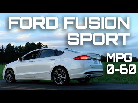 2017 Ford Fusion Sport 0-60 MPH Review - Highway MPG Road Test