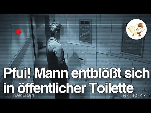 Pfui! Mann entblößt sich in öffentlicher Toilette und uriniert in Keramikskulptur [Postillon24]