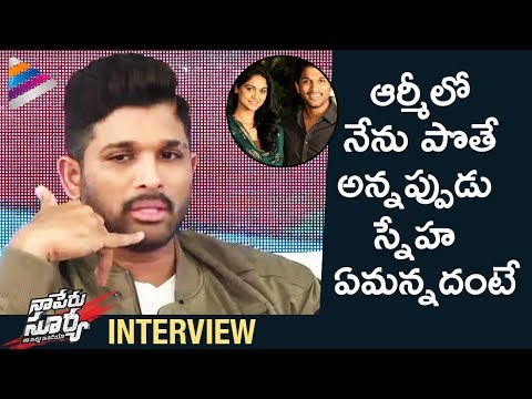 Allu Arjun Shares Unknown Incident About His Wife | Naa Peru Surya Naa Illu India Interview | Krish