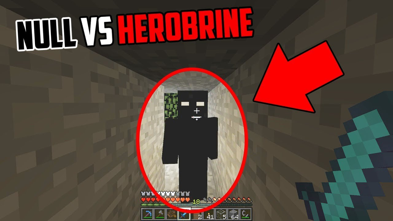 I Am Being Stalked By Null On The Herobrine Seed In Minecraft Null Vs Herobrine In Minecraft