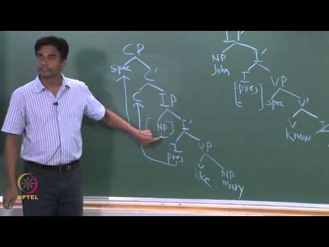 Mod-01 Lec-33 Syntax: Structure of an IP and  Thematic Relations
