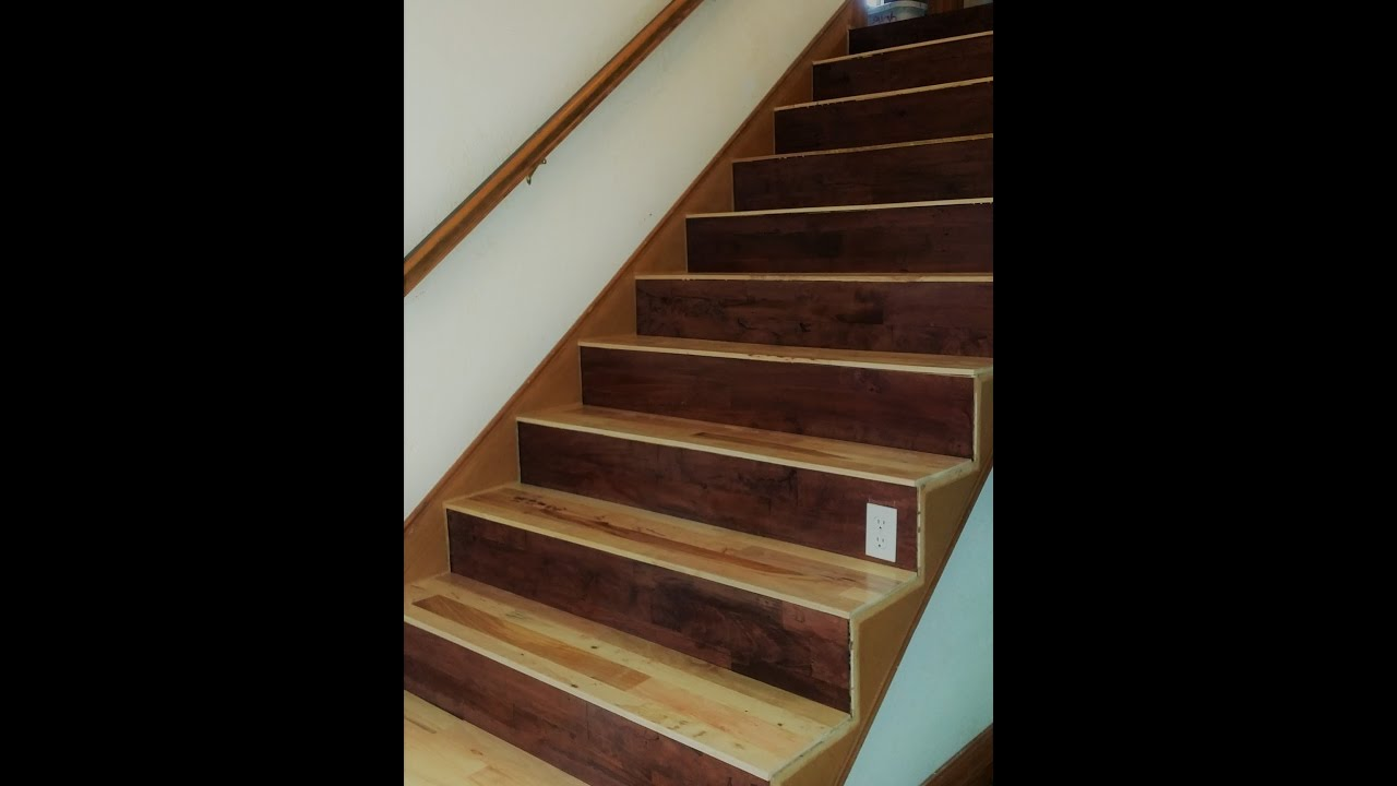 Nateu0027s WoodWerks   9   Pallet Wood Stair Treads   Stair Tread Installation