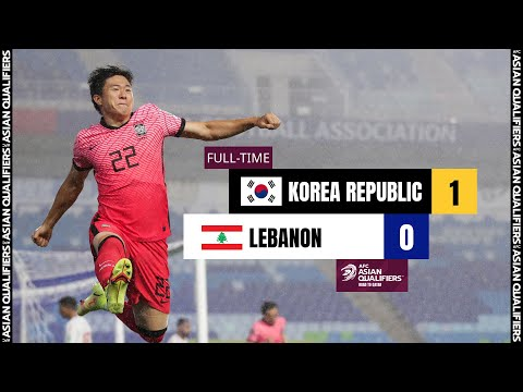 #AsianQualifiers - Group A   Korea Republic 1 - 0 Lebanon