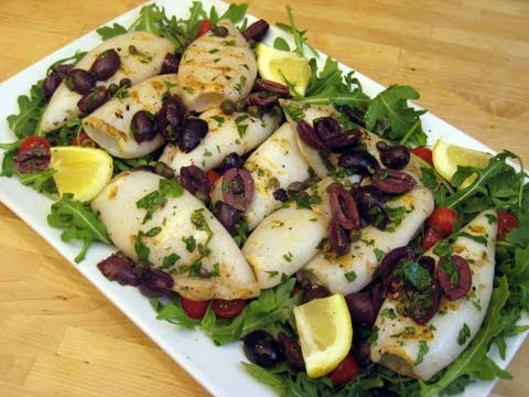 How To Make Grilled Calamari - Italian Style By Laura Vitale Episode 50 'Laura In The Kitchen'