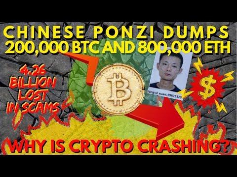 BREAKING: Ponzi Plus Token Dumping 200K BTC 800k ETH, Bitcoin Crash Is NOT Related To Stocks!