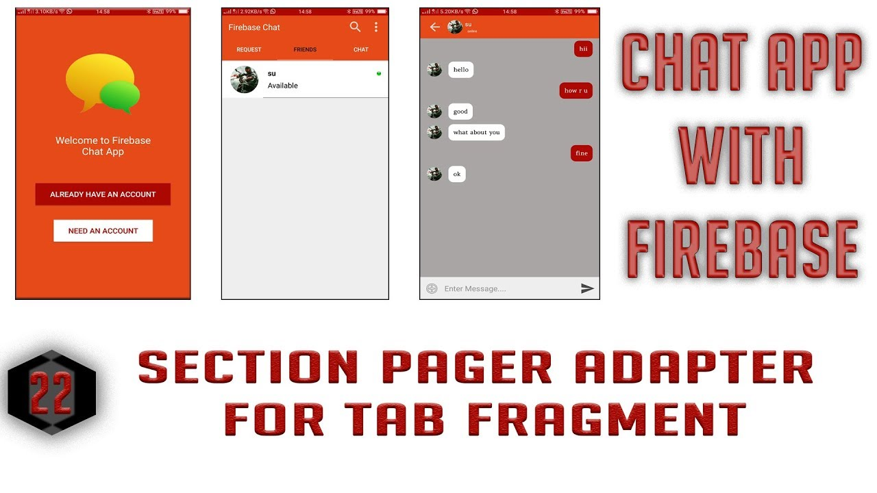 Section Pager Adapter for Tabs Fragment #22 Android Firebase Chat App in  Hindi/Urdu