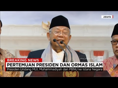 Pesan Sejuk Ulama Dari Istana, Presiden Jokowi Bertemu Ormas Islam - MUI, PBNU & Muhammadiyah