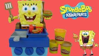 سبونج بوب متكلم مطبخ و مطعم حقيقي صلصال ألعاب صبيان بنات SpongeBob Krabby Patty